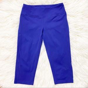Zella Bluish/Purple Cropped Leggings Size XS